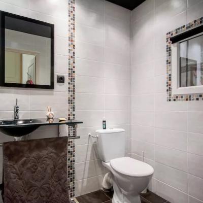 Salle de douche - coin toilettes